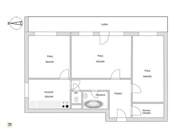 Prodej bytu 3+1 ve Zlíně