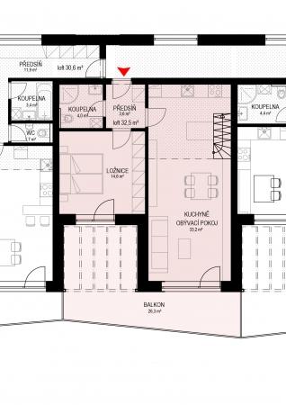 Prodej nového loftového bytu 3+kk Zlín-Malenovice
