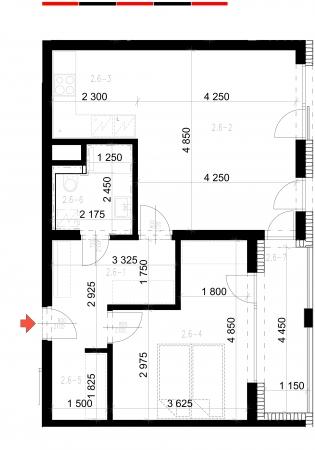 Prodej nového bytu 2+KK, ul. Sadová