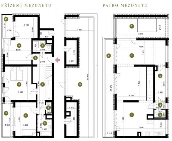 Prodej nového mezonetového bytu 2+KK, ul. Sadová